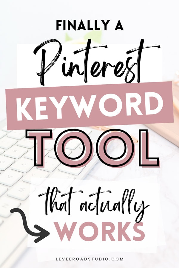 Finally a Pinterest keyword tool that actually works.